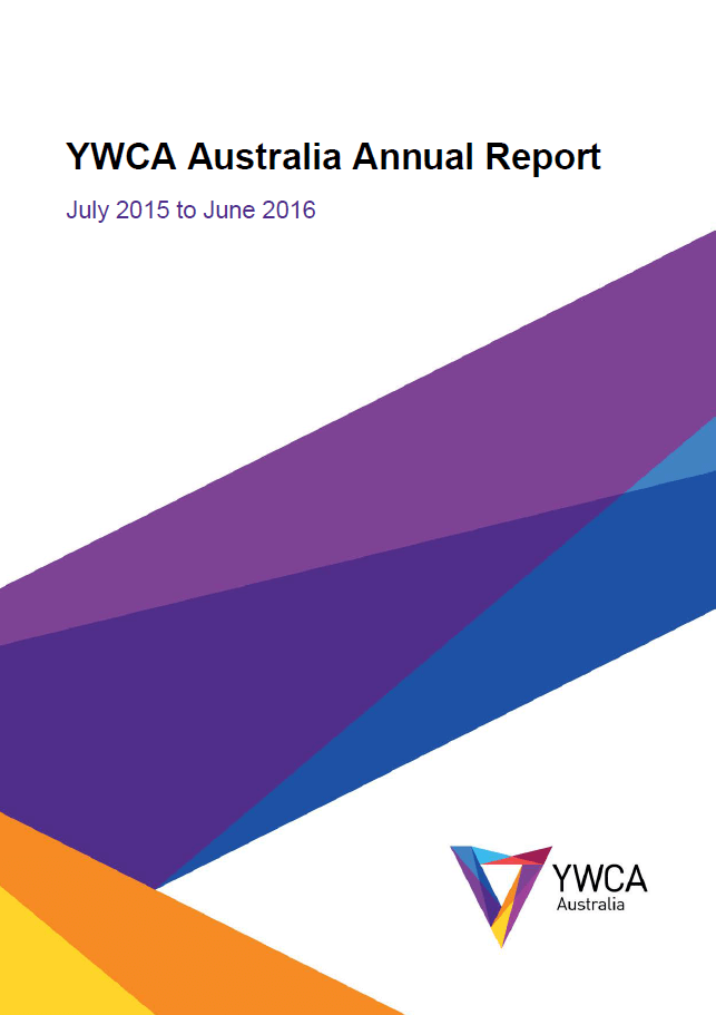 ywca australia annual report front cover 2015-16