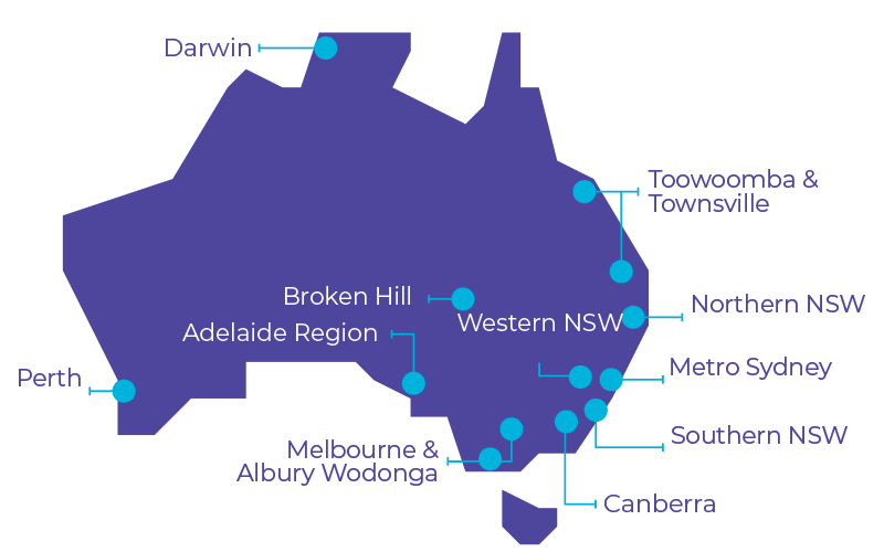 Map Of Australia Townsville.Where We Are Ywca